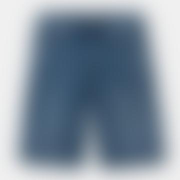 Blue Mid Worn Wash Pontiac Shorts