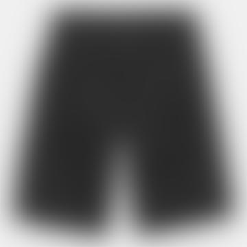 Black Rinsed Regular Cargo Shorts