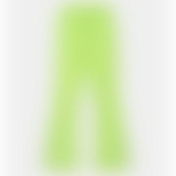 Sharp Green Tape Logo Flair Pants