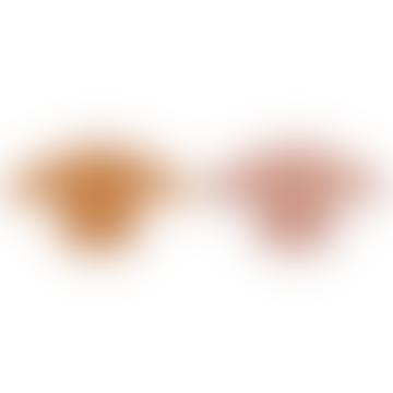 Liewood Merle Cape Bib 2 Pack - Dark Rose/Mustard