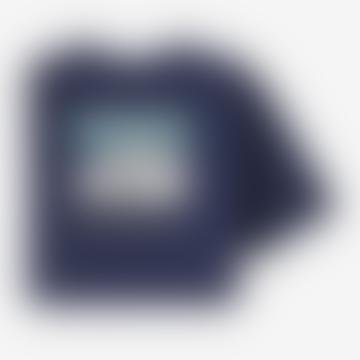 Patagonia Classic Navy Mens Line Logo Ridge Pocket Responsibili Tee