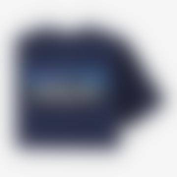 Patagonia Classic Navy Mens P6 Logo Pocket Responsibili Tee