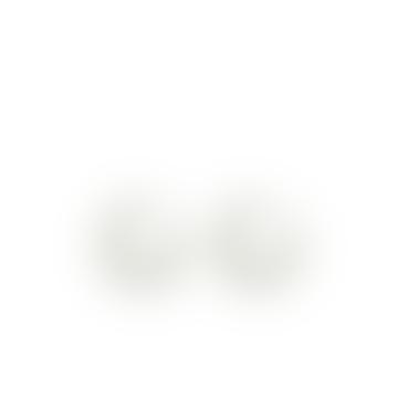 Odette Resin Tiny Hoop Earrings In White