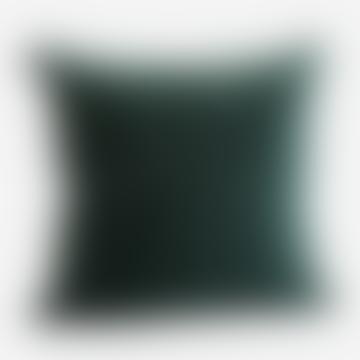 Velvet Cushion Forest Green