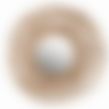 Kubu Circular Woven Rattan Mirror