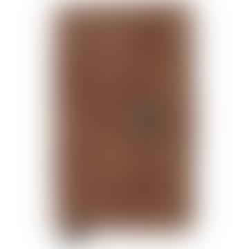 Vintage Cognac Leather Mini Wallet