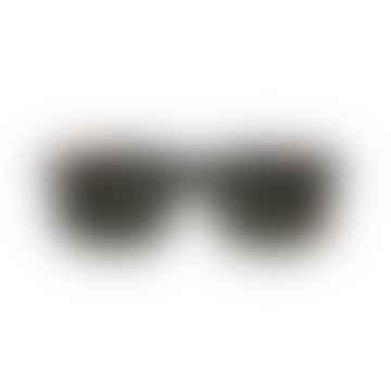 Tortoise Big One Unisex Sunglasses with Green Lenses