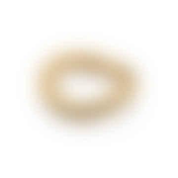 Waterproof Irregular Band Ring, Forever Lasting Tarnish-Free 18k Gold