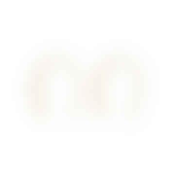 Nordic Muse 18k Gold Vermeil Simple Open Hoop Earrings