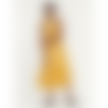 Samsoe Samsoe Rhea Ml Glossy Midi Dress Mineral Yellow