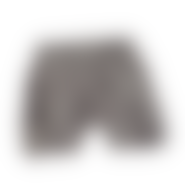 Shorts de algodón orgánico con motivo animal gris oscuro