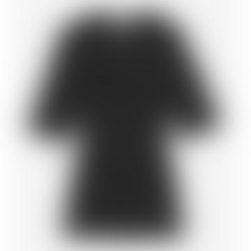 Ganni Viscose Jersey Smock T Shirt Black