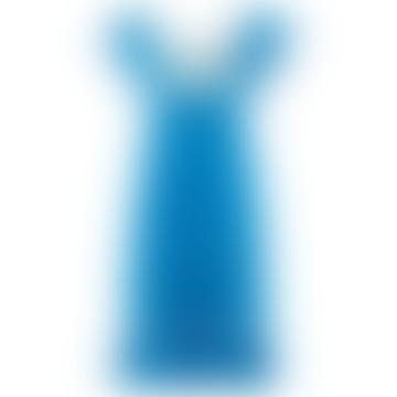 Alberta Embroidered Blue Dress