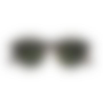 IZIPIZI Tortoise Round Timeless Unisex Sunglasses brown, black, amber/green lenses