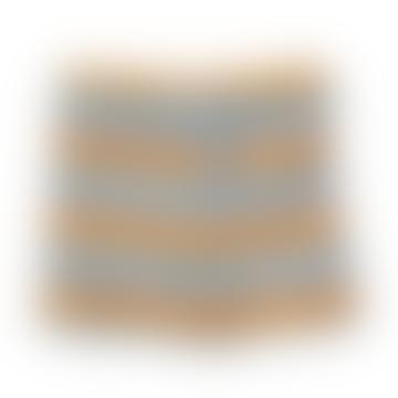 Otto Striped Swim Shorts In Sea Blue Mustard Stripe