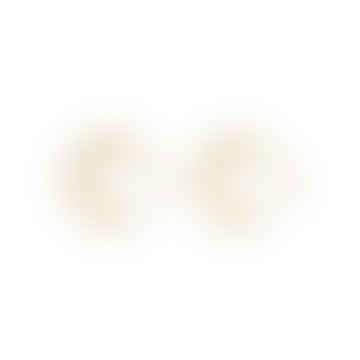 Nordic Muse 18k Gold Vermeil Double Layered Hoop Earrings ER - 0112 G
