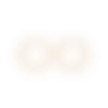 Nordic Muse Waterproof 18k Gold Hoop Earrings ER - 0089G