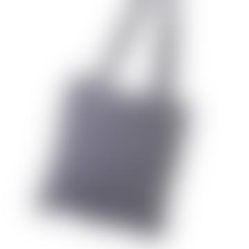 Navy Linen Shopper Bag