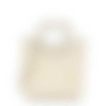The Mini Shirley Leather Bag In Cream