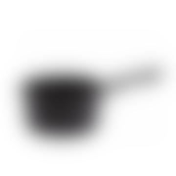 Black Speckled Metal Saucepan