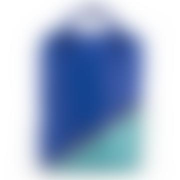 Large Backpack Diagonal Retro Mint + Ink Blue