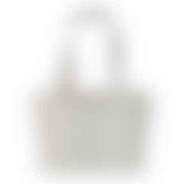 Antibes linen Look  Grey Stripe Bag