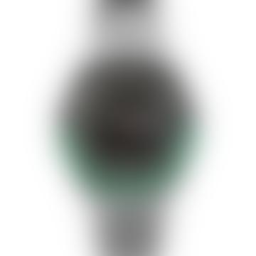 Q Reissue Diver Inspired 38 Mm Stainless Steel Bracelet Watch Black Green