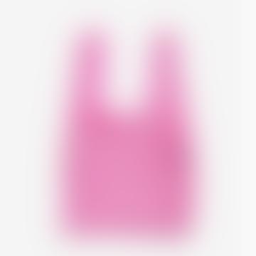 Baggu Pink Recycled Nylon Mesh Bag