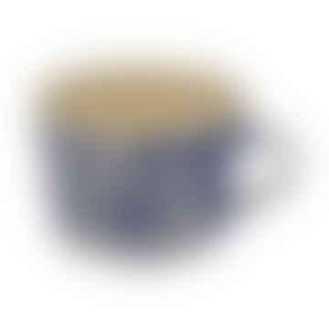 Squat Style Ceramic Mug In A Blue Wash