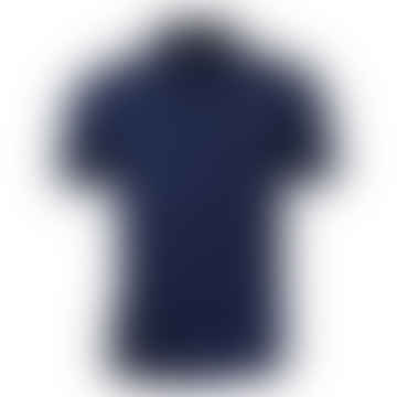Button Down Polo Shirt Carbon Blue
