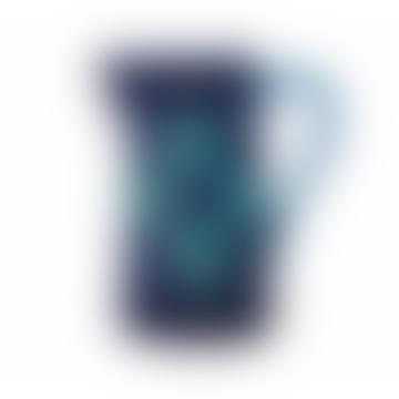Majolica Pitcher 2.4 Litre Blue