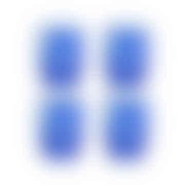 Set of 4 Tortoise Blue Glasses
