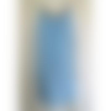 Sienna Pale Blue Linen Sequin Dress