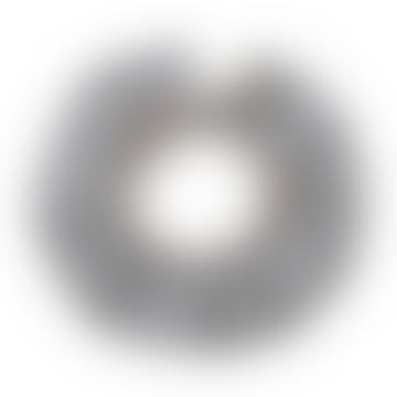 Alda Organic Cotton Ruffle Collar Bib In Silver Grey