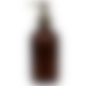 Amber Glass Pump Action Bottle 1 L