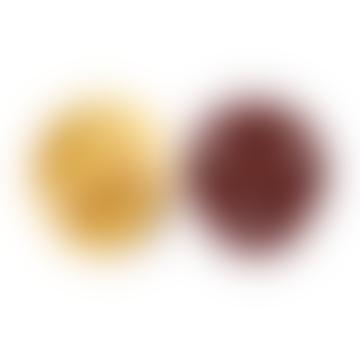Pacifiers Bibs Colour Mustard/Wine