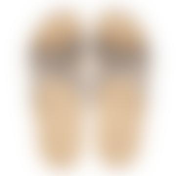 Danish Sandals In Grey Stripe Lightweight Breathable Washable