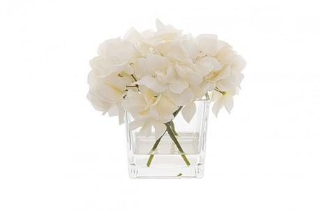 Trouva Kelly Hoppen Faux Hydrangeas In Glass Vase