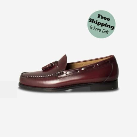 d349538a87d Trouva  G.H. Bass   Co Bass Weejuns Mens Larkin Moc Tassel Leather Loafers  Wine Burgundy