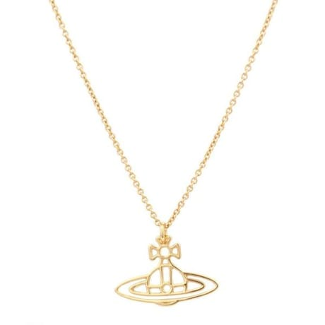Trouva vivienne westwood gold thin lines flat orb pendant necklace aloadofball Gallery