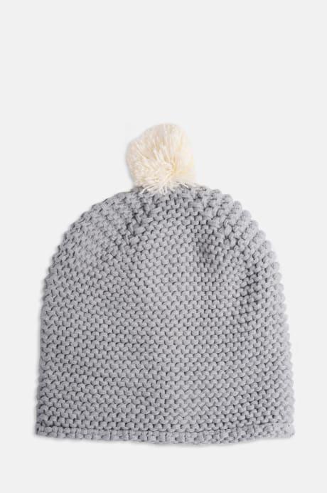 Trouva  Mis Pompom Grey Mohair Beanie Hat 6e45dd505f3