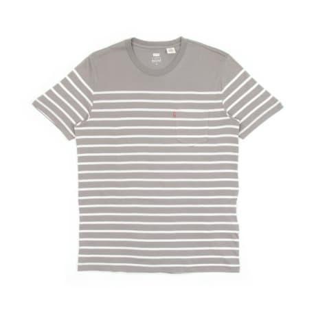 Sunset Pocket T-Shirt Anchor Stripe - Anchor stripe steel Levi's