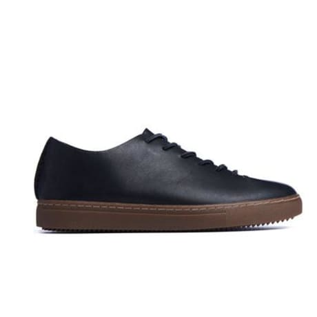 Trouva Black One Piece Full Grain Leather Shoes