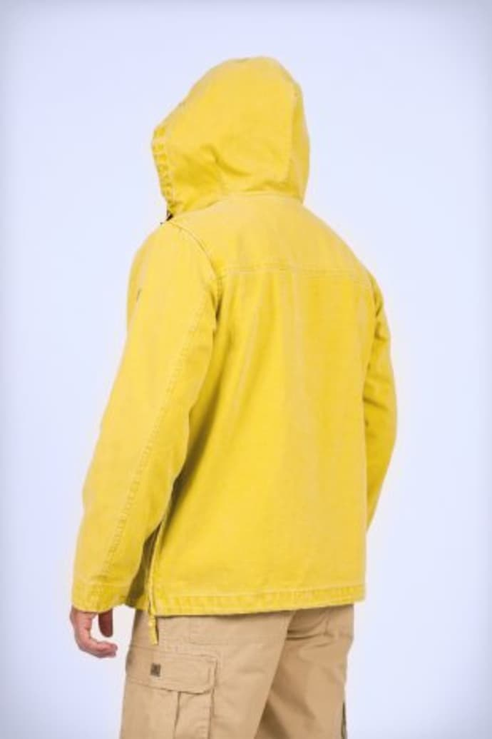 Zip Yellow Half Hooded Larmor Mousqueton Jacket MzqSVpGU