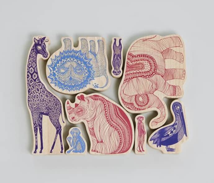 Empire Africa Wooden Characters Animals Toys Mini H2IEDW9