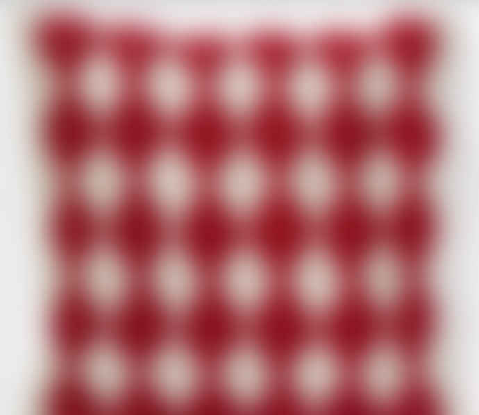 Charlene Mullen Red Bobble Geometric Cushion