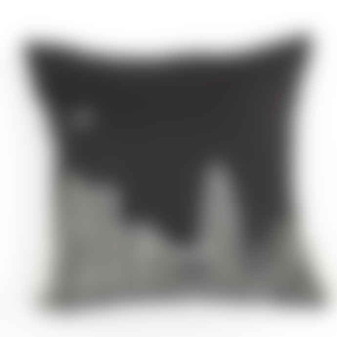 Charlene Mullen The Gherkin At Night Linen Cushion