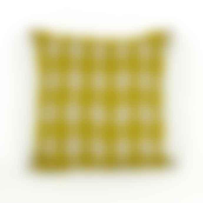Charlene Mullen Geometric Yellow Bobble Cushion