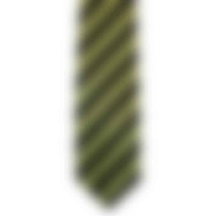 Gresham Blake Lime Classic Stripe Tie