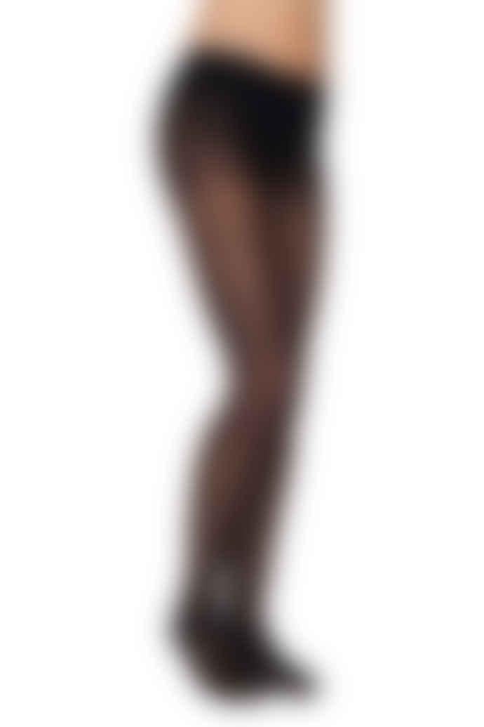 Swedish Stockings Filippa Silver Dots Tights in Black